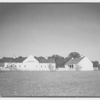 Paterson country house, Point Farm, by Schuyler & Lounsbery. Distant view of barns at Paterson country house