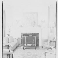 Paterson country house, Point Farm, by Schuyler & Lounsbery. Living room in Paterson country house III