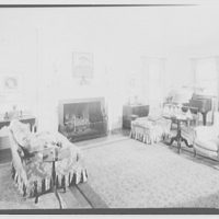 Paterson country house, Point Farm, by Schuyler & Lounsbery. Room in Paterson country house, to fireplace, horizontal