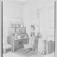 Paterson country house, Point Farm, by Schuyler & Lounsbery. Writing desk in corner in Paterson country house