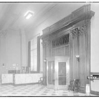 Perpetual Building Association. Interior of Perpetual Building Association to doorway