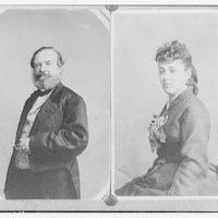 Portrait photographs. Constantino Brumidi and his wife, Lola Brumidi II