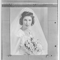 Portrait photographs. Copy photograph of wedding portrait of bride