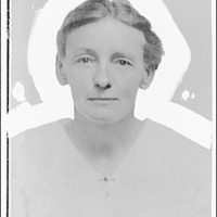 Portrait photographs. Head and shoulders of woman, with masking