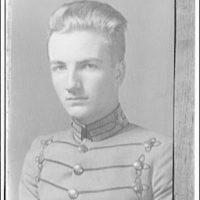 Portrait photographs. Young man in cadet uniform