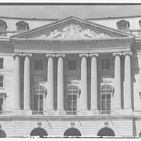Post Office Department Building (Old Post Office Building or Pavilion). Pediment in circular plaza