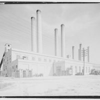 Potomac Electric Power Co. Benning plant. Exterior of Benning plant