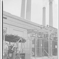 Potomac Electric Power Co. Benning plant. Filling of transformer at Benning plant with oil