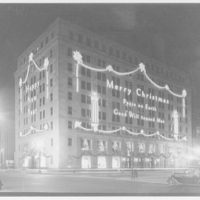 Potomac Electric Power Co. Building. Christmas view of Potomac Electric Power Co. III