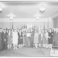 Potomac Electric Power Co. Building. Diploma presentation by Red Cross to Pepco first aiders II