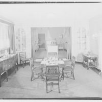 Potomac Electric Power Co. Building. Model home dining room of Potomac Electric Power Co.
