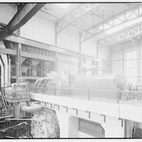 Potomac Electric Power Co. Buzzard Point plant. 50,000 kilowatt turbine at Buzzard Point plant