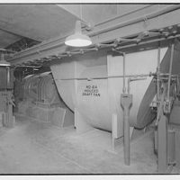 Potomac Electric Power Co. Buzzard Point plant. No. 6A induced draft fan at Buzzard Point plant
