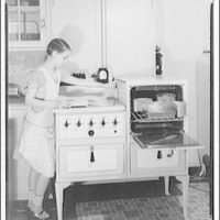 Potomac Electric Power Co. electric appliances. Norma at electric range II