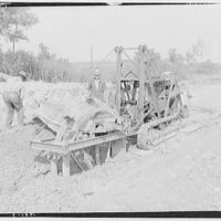 Potomac Electric Power Co. miscellaneous. Ditch digging machine