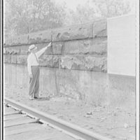Potomac Electric Power Co. miscellaneous. Railroad scene at 9th St. and Virginia Ave. S.W. I