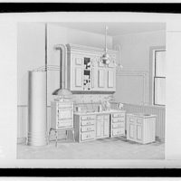 Potomac Electric Power Co. old electric appliances. Illustration of kitchen