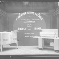 Potomac Electric Power Co. Washer and iron window display