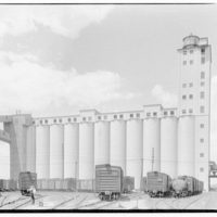 Quaker Oats Factory, Cedar Rapids, Iowa. View of grain elevators