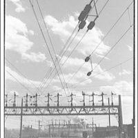 Railroad at Landon, Maryland. Railroad tracks and power lines I