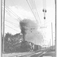 Railroad at Landon, Maryland. Steam locomotive