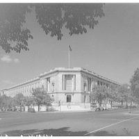 Russell Senate Office Building. Northwest corner of Russell Senate Office Building, Delaware Ave. and C St. III
