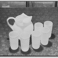 Sanitary Grocery Co. Inc. Pitcher and glasses I