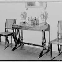 Schuyler & Lounsbery, shop at 1409 20th St. Table and chairs, Schuyler & Lounsbery