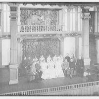 Shakespearean players. Group of actors on stage I