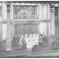 Shakespearean players. Group on actors on stage III