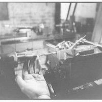 Sheaffer fountain pen factory, Ft. Madison, Iowa. Boring holes