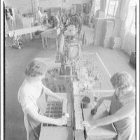 Sheaffer fountain pen factory, Ft  Madison, Iowa  Polishing barrels