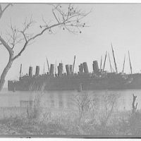 Ships at Solomons Island. German ship at Solomons Island II