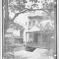 Slave quarters and magnolia (Patio Royale), New Orleans