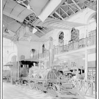 Smithsonian Institution interiors. John Bull steam engine in the Smithsonian