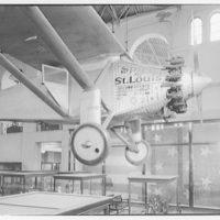 Smithsonian Institution interiors. Spirit of St. Louis in the Smithsonian IX