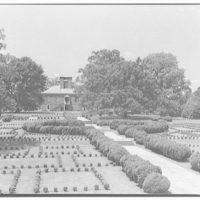 Stratford Hall. Close-up of garden at Stratford Hall II