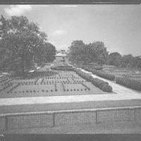 Stratford Hall. Wide-angle of garden at Stratford Hall I