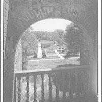 Stratford, Lee family estate. View through arch to garden at Stratford