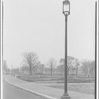 Street lamp on Mall. Lamp along street