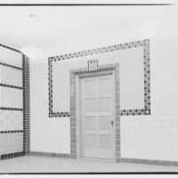 Treasury Department warehouse. Treasury Department sample rooms, brick and tile room