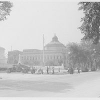 Union Paving Co. At work in front of Library of Congress