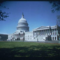 U.S. Capitol exteriors. Wide-angle view of U.S. Capitol, horizontal I