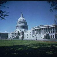 U.S. Capitol exteriors. Wide-angle view of U.S. Capitol, horizontal II