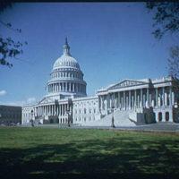 U.S. Capitol exteriors. Wide-angle view of U.S. Capitol, horizontal III
