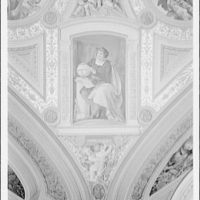U.S. Capitol frescoes. Fresco in President's room in U.S. Capitol, Columbus