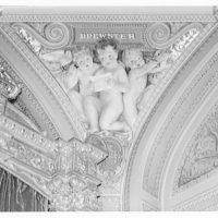 U.S. Capitol frescoes. Fresco in Senate reception room in U.S. Capitol I