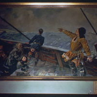 U.S. Capitol paintings. Leif Ericsson discovers America painting in U.S. Capitol