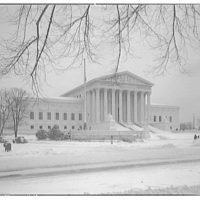 U.S. Supreme Court exteriors. Front of U.S. Supreme Court Building from left (winter) II