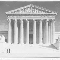 U.S. Supreme Court exteriors. Front portico of U.S. Supreme Court from center I